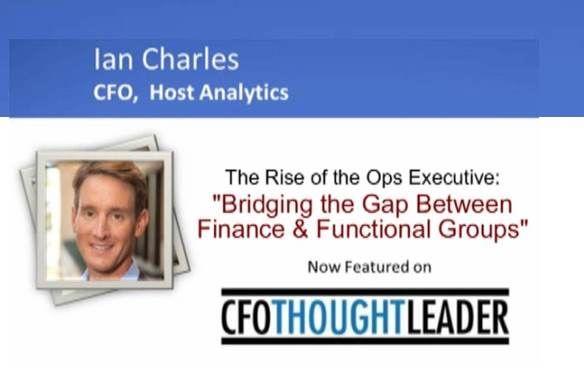 194: The Rise of The Ops Executive, Ian Charles, CFO, Host Analytics