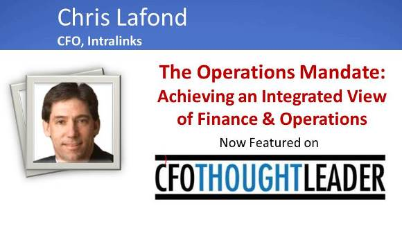 203: The Operations Mandate, Chris Lafond, CFO Intralinks