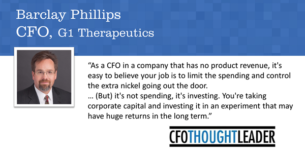 475: Advancing Product to Enter the Next Stage of Development |  Barclay Phillips, CFO, G1 Therapeutics